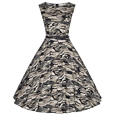 Penin New Women Dress Army Green Summer Audrey 50S 60S Vintage Dresses Vestidos Plus Size Rockabilly