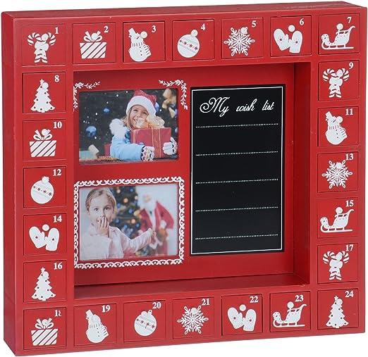 Marco de fotos de Navidad Calendario de Adviento de madera lista ...