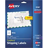 "Avery Shipping Labels with TrueBlock Technology for Inkjet Printers 3-1/2"" x 5"", Pack of 100 (8168)"