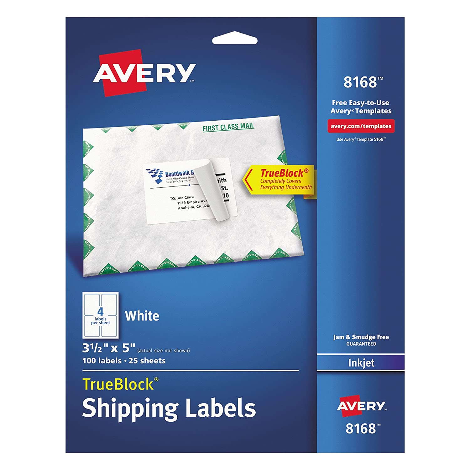 Amazon.com : Avery Shipping Address Labels, Inkjet Printers, 100 ...