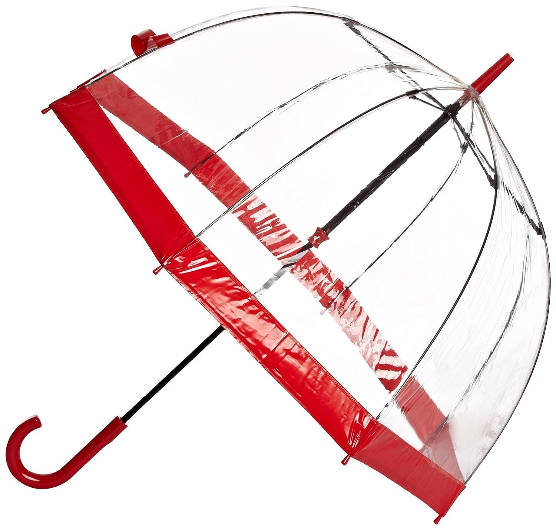 Paraguas Transparente Rojo Fulton Birdcage por solo 20,62€