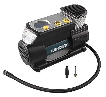 WINDEK rcp-b57 a rápido Digital Automático Neumático Inflador Bomba de doble cilindro, 12 V, Compresor: Amazon.es: Coche y moto