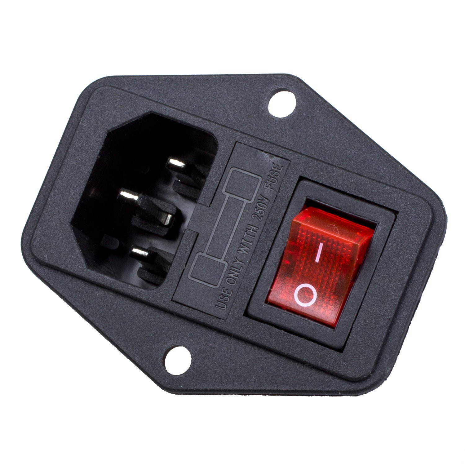 amazon com inlet module plug fuse switch male power socket 10a 250v