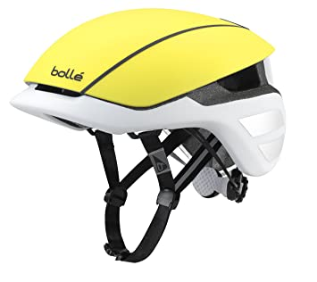 Bollé The One Premium Cascos Ciclismo, Unisex Adulto, Matt Yellow/White, 54