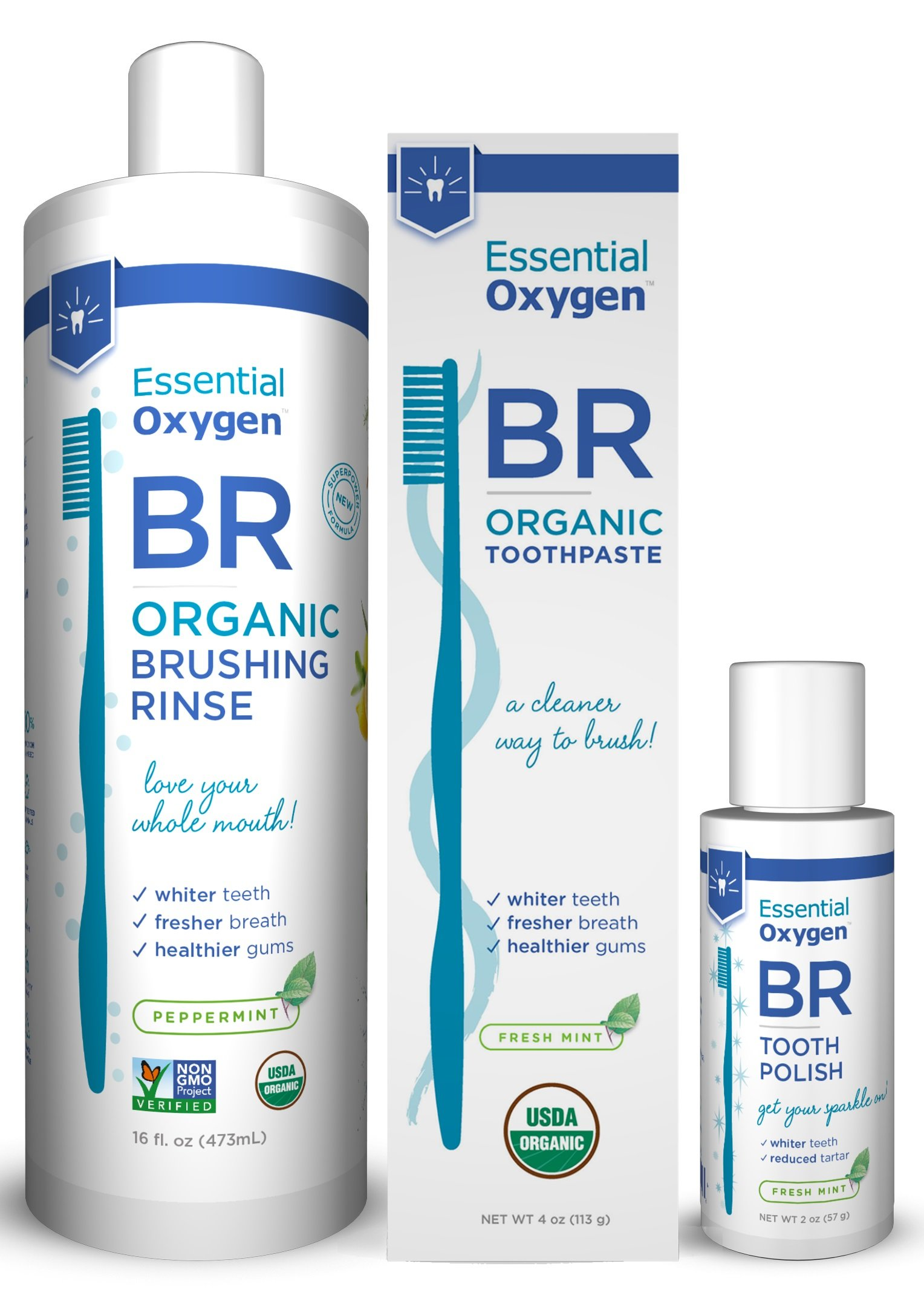 Essential Oxygen Pristine Protocol 3-Step System for a Healthy and Radiant Smile, 3 Count