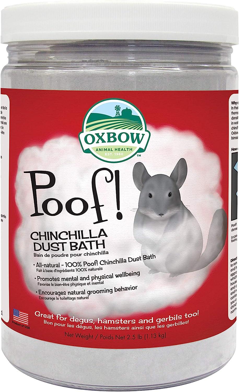 Oxbow Animal Health POOF! Chinchilla Dust Bath, 2.5 Pound Jar