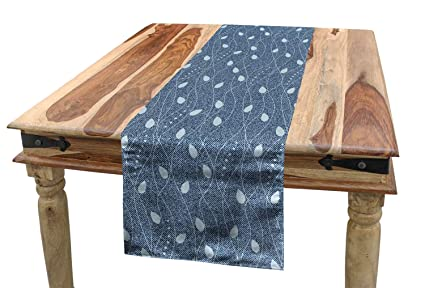 Amazon.com: Ambesonne Leaves Table Runner, Branches Over ...