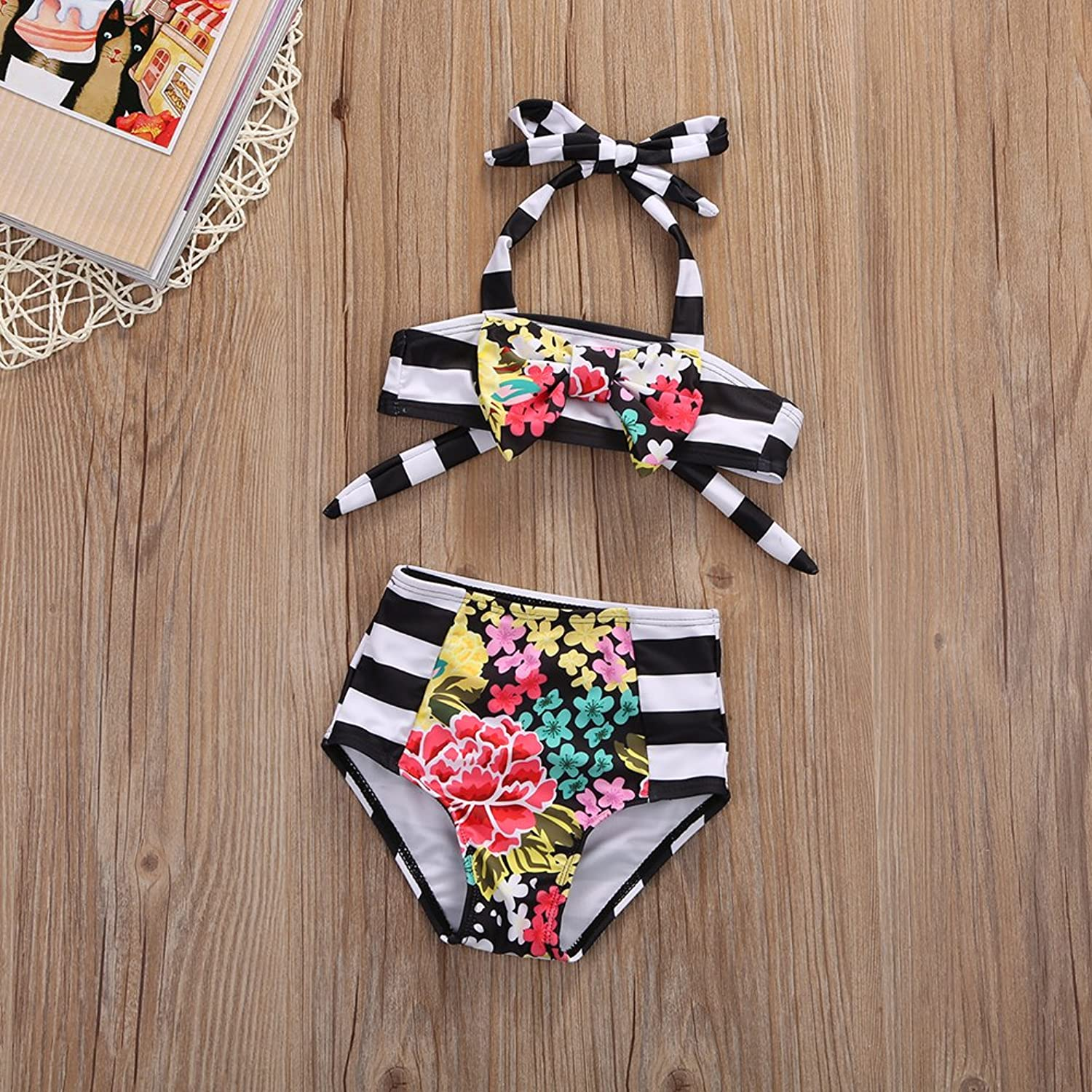 Amazon.com: Mother and Daughter Matching Swimsuits Striped Bikini ...