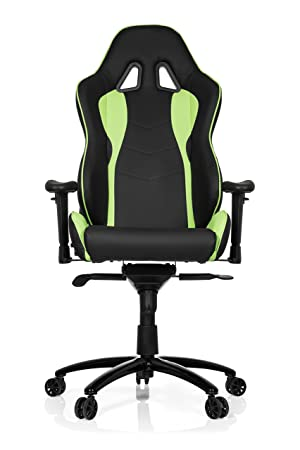 hjh OFFICE - 727020 Silla Gaming Wingman I Piel sintética Negro/Verde, ergonómico,