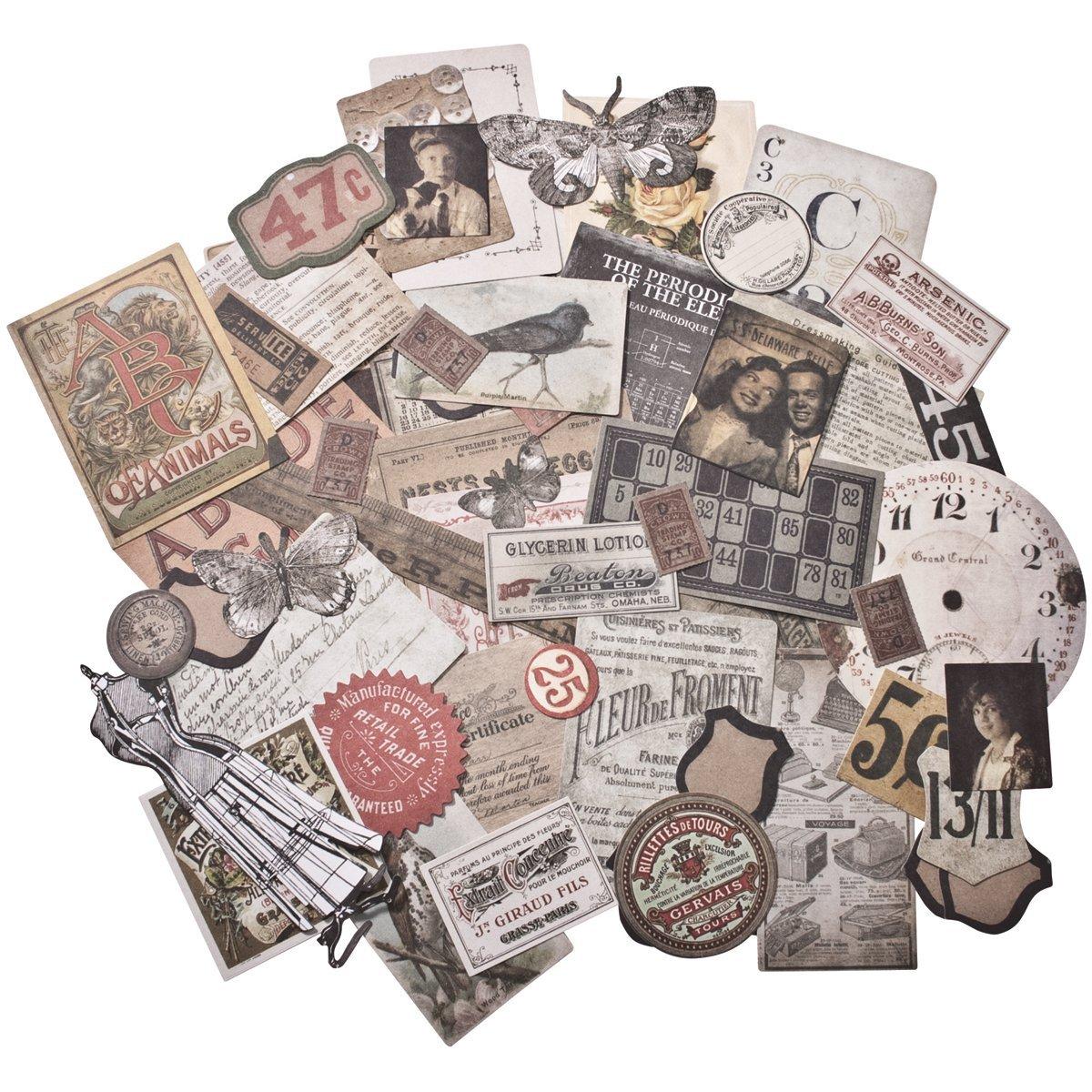Tim Holtz Idea-ology Thrift Shop Ephemera Pack, 54 Pieces, TH93114