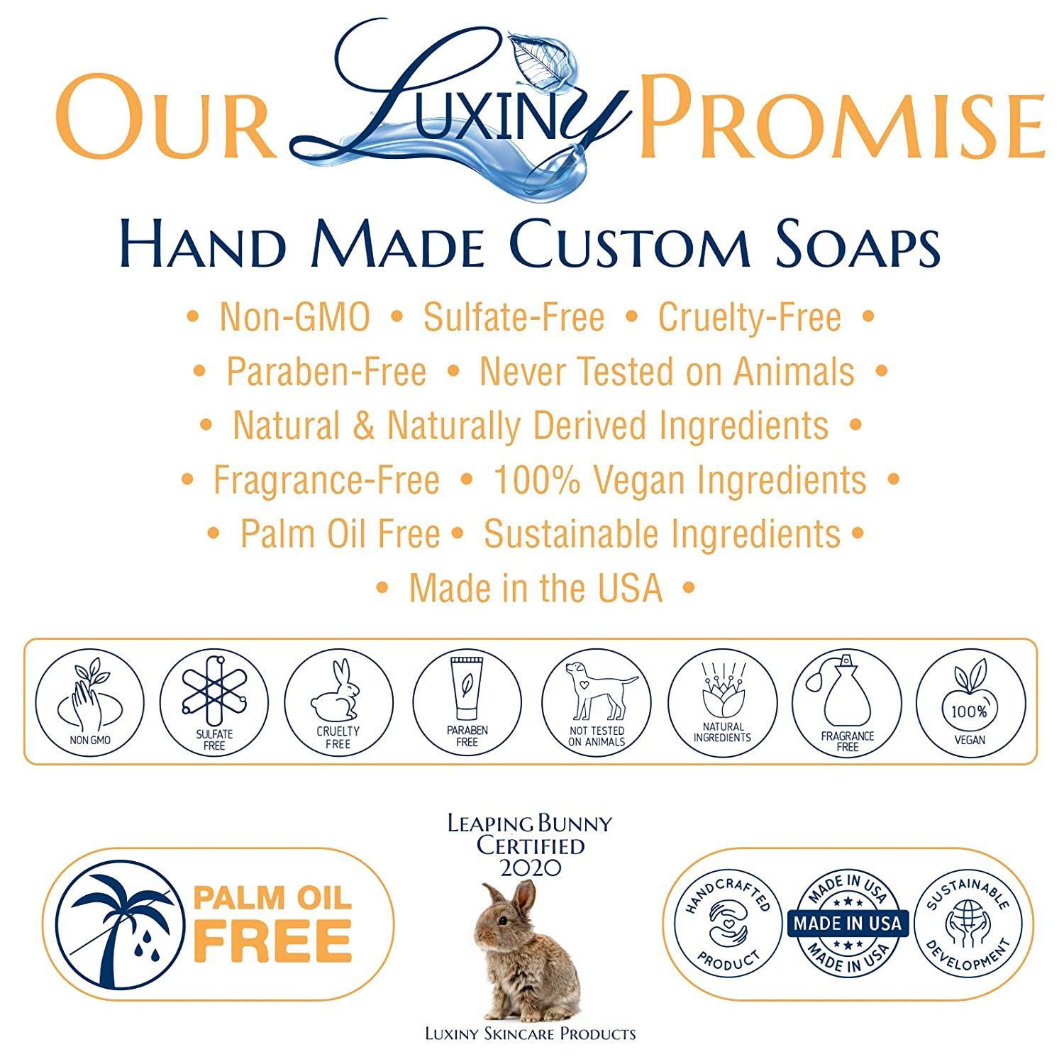 Natural Soap Bar, Luxiny Orange Patchouli Handmade Body Soap and Bath Soap Bar is Palm Oil Free, Moisturizing Vegan Castile Soap with Essential Oil for All Skin Types Including Sensitive Skin (Single) : Beauty