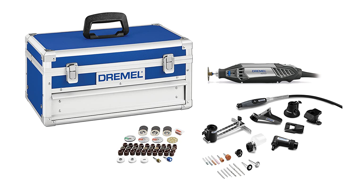 Dremel 4200 8 64 Corded Rotary Tool Kit With Ez Change 77 Piece Multipro Automotive Set 60 Pcs Platinum Edition Woodworking Project Kits