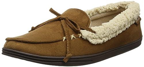 Isotoner Suedette Moccasin Slippers, Zapatillas Bajas para Hombre: Amazon.es: Zapatos y complementos