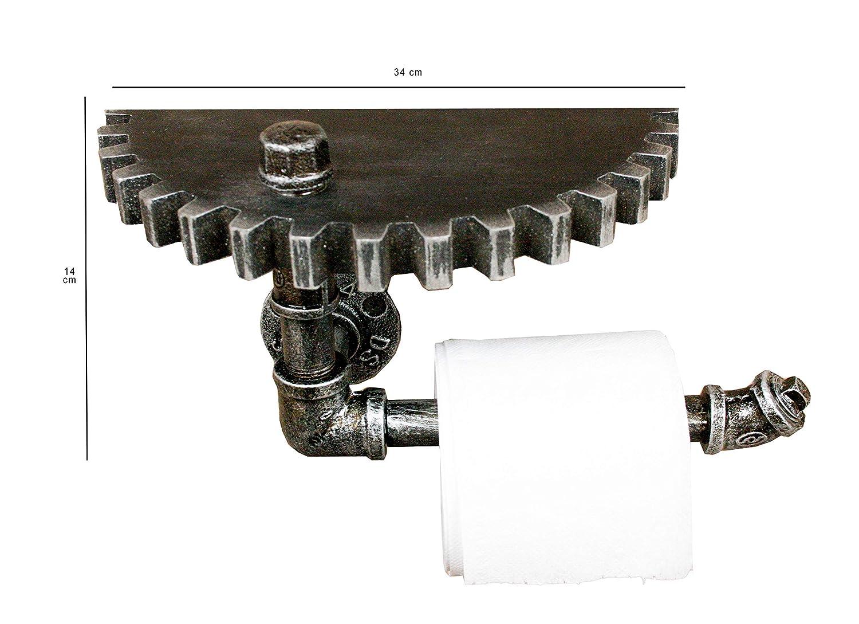 Emartbuy Industrial R/ústico Ca/ñer/ía Montado en la Pared Ba/ño Estante Portarrollos de Papel Higi/énico