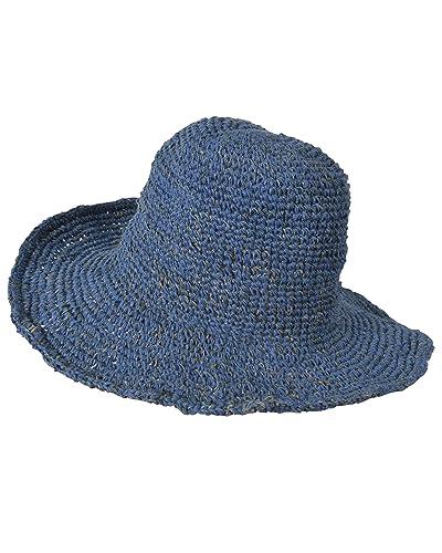 Amplia Borde tricotado verano crocht cáñamo algodón mezcla sombrero