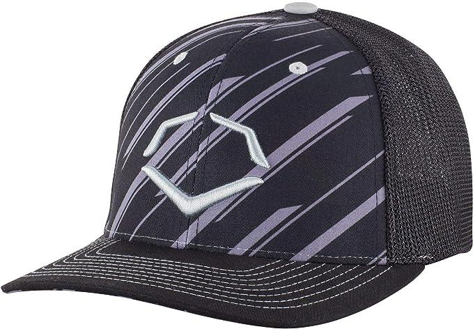 big sale 273e2 04047 EvoShield EvoCamo Mesh Flex Fit Trucker Hat - Charcoal Red Logo at Amazon  Men s Clothing store