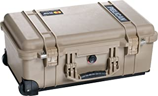 product image for Pelican 1514 Tan Case With Padded Dividers and Wheels
