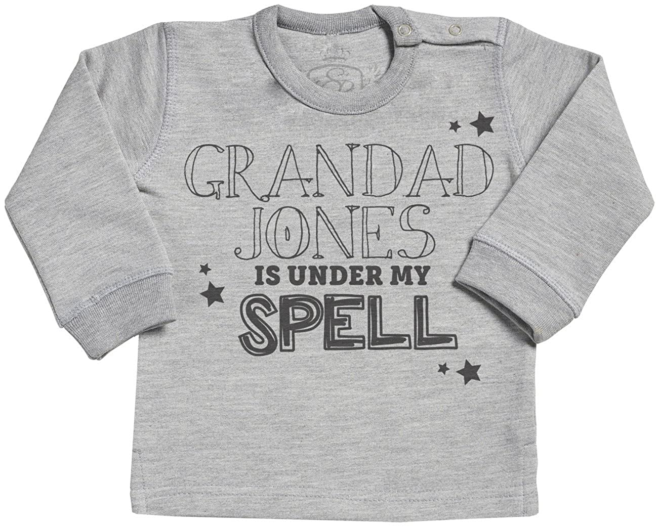 Spoilt Rotten SR - Personalised Under My Spell Long sleave Baby Sweater - Baby Sweater Gift - Baby Sweatshirt - Baby Clothing srP24_SW
