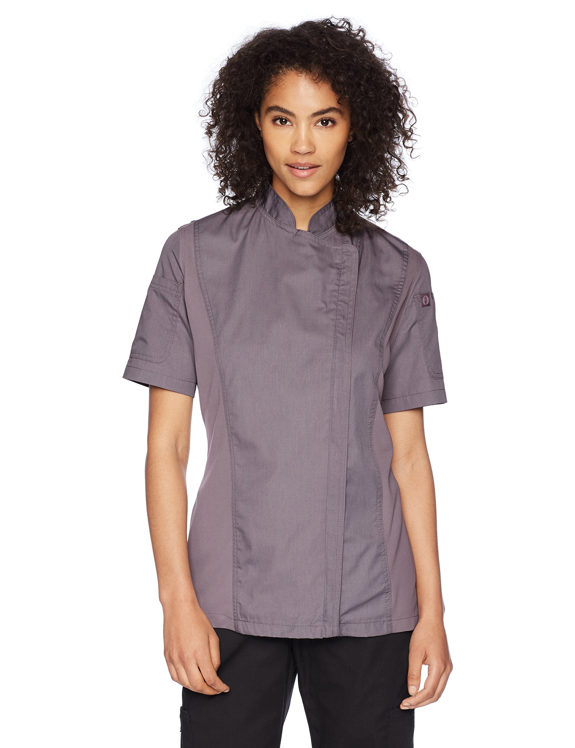 Chef Works Women's Springfield Chef Coat, Purple, Large