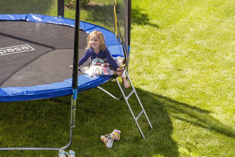 Outdoor Trampolin Gartentrampolin mit Sicherheitsnetz und Leiter 140 / 244 / 305 / 366 / 396 / 426 / 457 cm // 4,6 ft / 8 ft / 10 ft / 12 ft / 14 ft / 16 ft