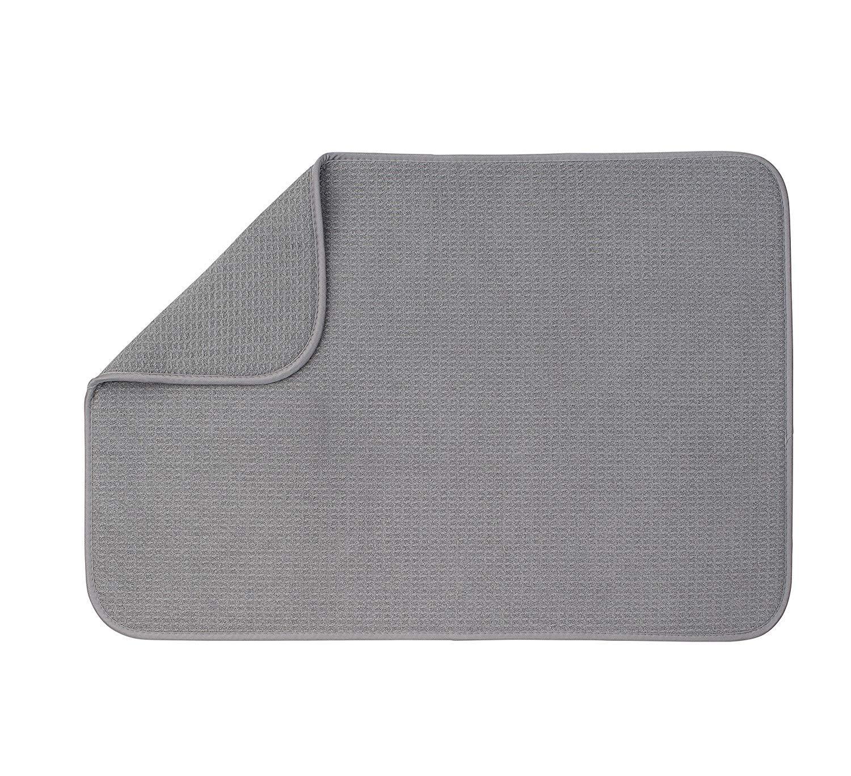 XXL Dish Mat 24'' x 17'' (LARGEST MAT) Microfiber Dish Drying Mat, Super absorbent by Bellemain by Bellemain