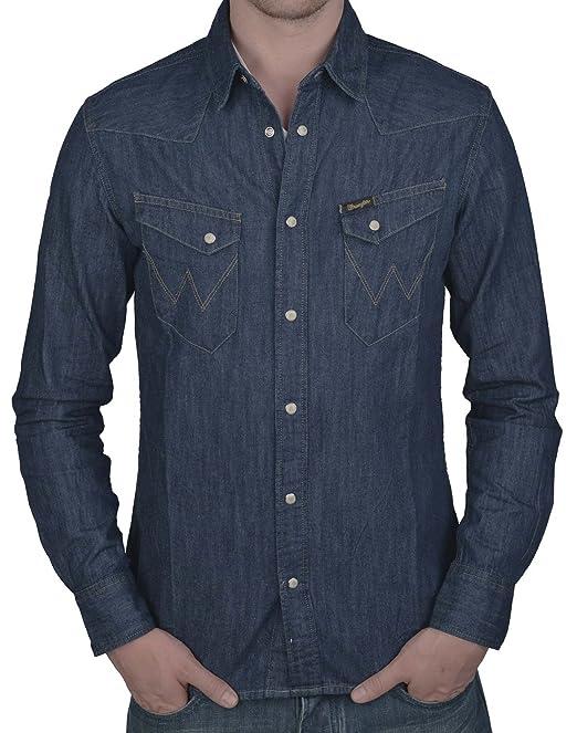 Wrangler - Camisa casual - para hombre azul índigo oscuro X-Large