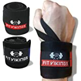 """18"""" Wrist Wraps for Weightlifting - Wrist Bands for Working Out - Wrist Support for Workouts - Weight Lifting Wrist…"""