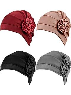 Haarverlust Schlafm/ütze Tleegu Headwear Unisex Kappe Aus Baumwolle f/ür Krebs