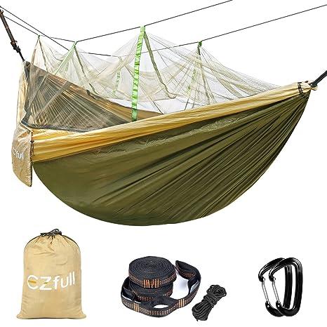 double camping hammock with mosquito   ezfull   660lbs bearing portable outdoor hammocks10ft hammock amazon    double camping hammock with mosquito   ezfull      rh   amazon