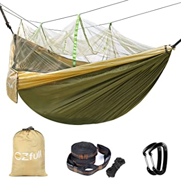 double camping hammock with mosquito   ezfull   lightweight portable hammock 660lbs outdoor hammock  best double camping hammock with mosquito   ezfull   lightweight      rh   amazon ca
