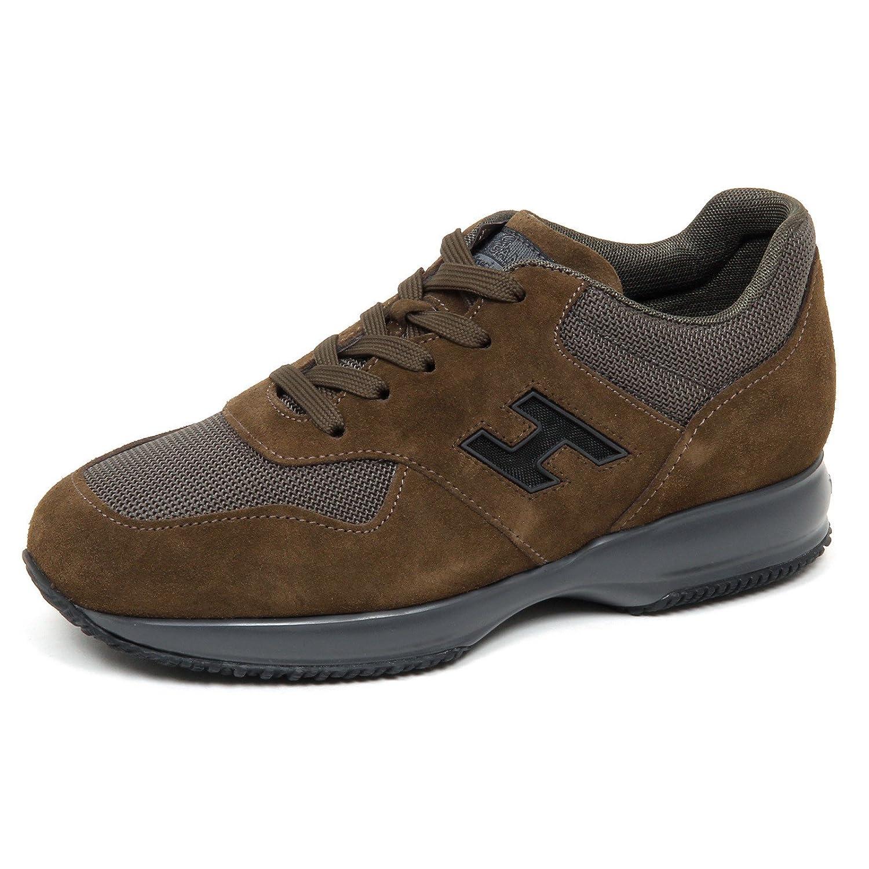 Hogan E0610 Sneaker Uomo Brown Interactive H rete Shoe Man Marrone