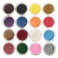 Niome 16Colors/Set Mixed Eyeshadow Glitter DIY Eye Shadow Shining Sexy Brighten Eyes