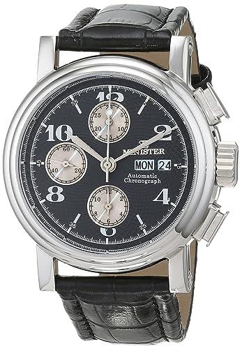 Minister Reloj Análogo clásico para Hombre de Cuarzo con Correa en Cuero 7847 Automatic: Amazon.es: Relojes