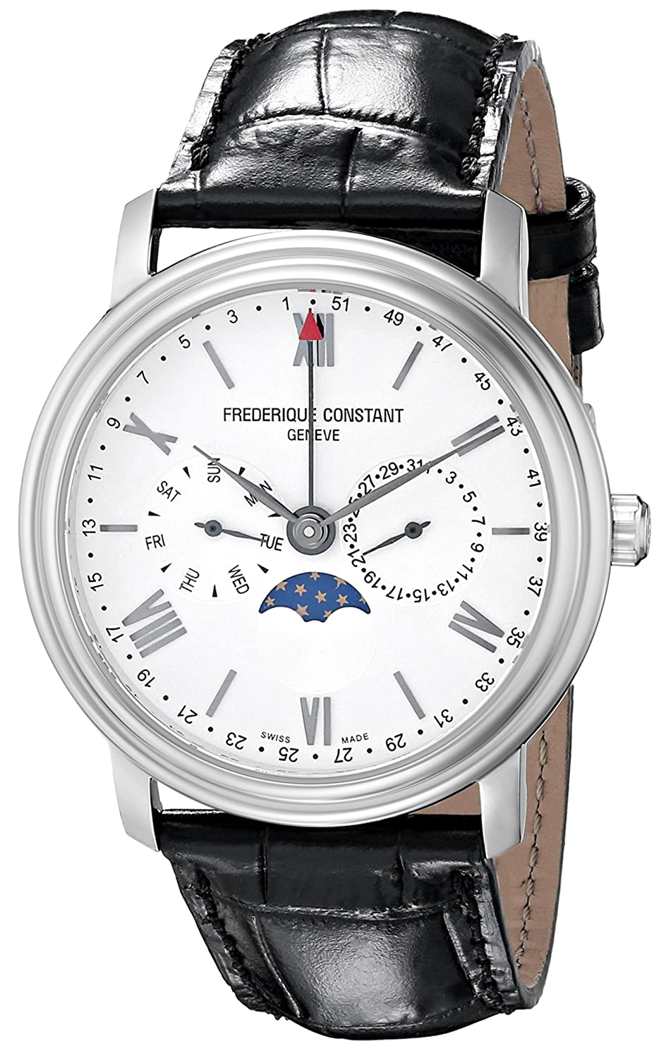 Frederique Constant Geneve Classic Business Timer FC-270SW4P6 Herrenarmbanduhr Sehr gut ablesbar