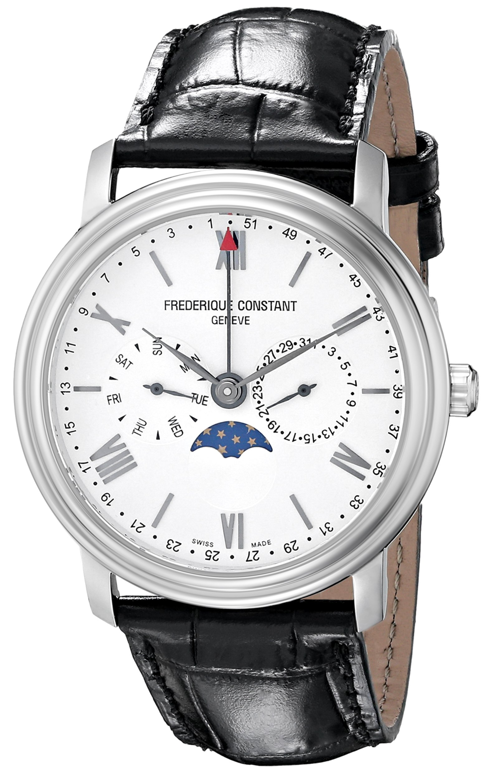 Frederique Constant Men's FC270SW4P6 Business Time Analog Display Swiss Quartz Black Watch by Frederique Constant
