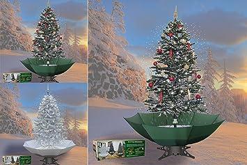 Schneiender Weihnachtsbaum.Schneiender Weihnachtsbaum 200cm Schneefall Tannenbaum Künstlicher Schnee Grün