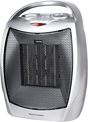 Brightown Portable Electric Space Heater, 1500W/750W Ceramic Heater with Thermostat & Multi-Protection System