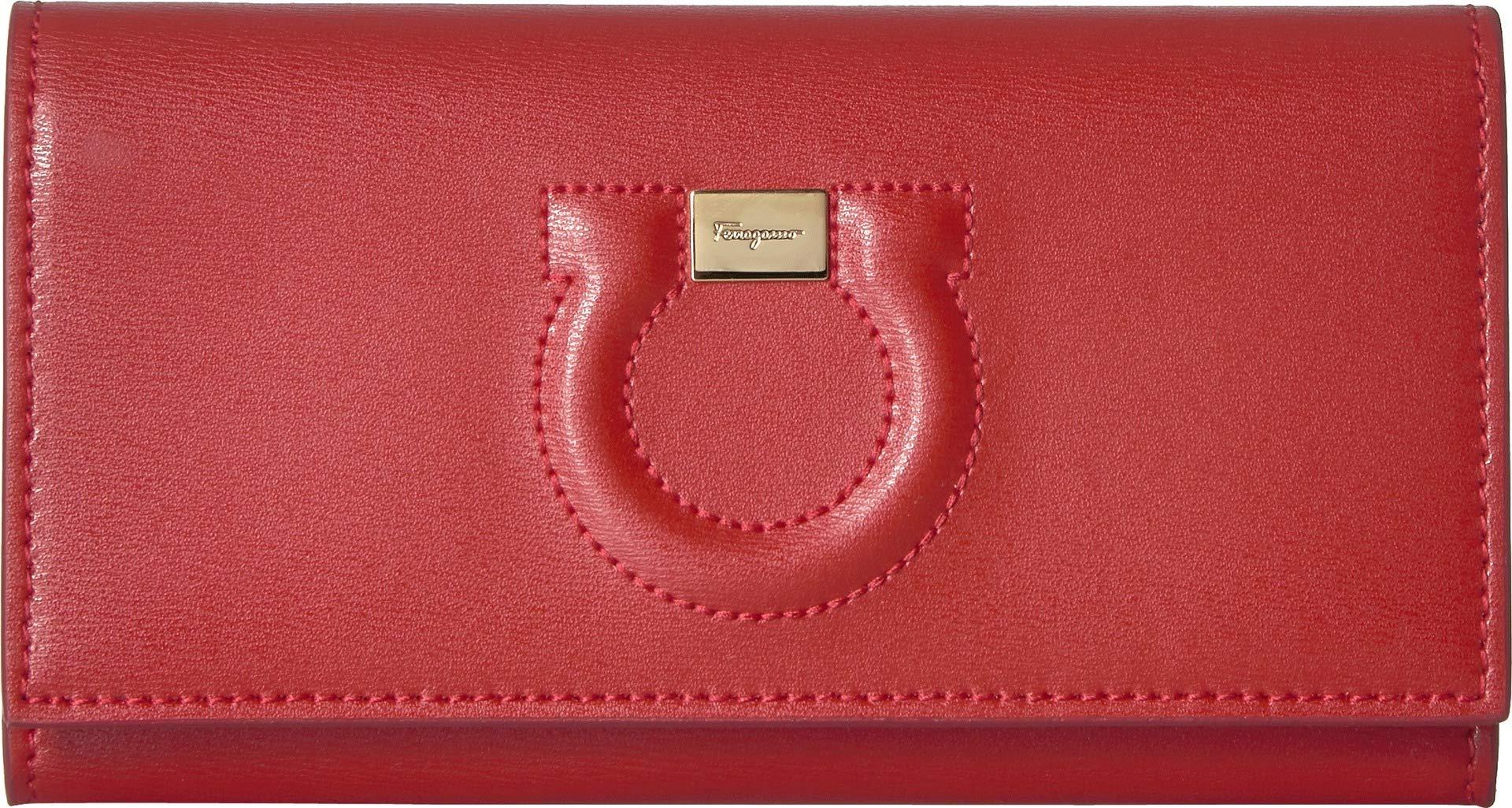Salvatore Ferragamo Women's Gancio City Wallet on a Chain, Lipstick, Red, One Size