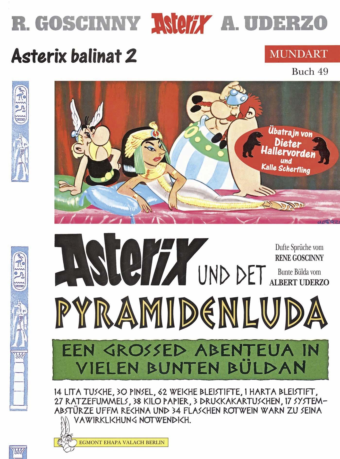 Asterix Mundart Berlinerisch II  Asterix Und Det Pyramidenluda