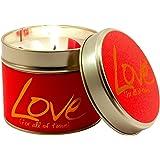 Lily Flame Love Tin, Red, l x 7.7cm w x 6.6cm h