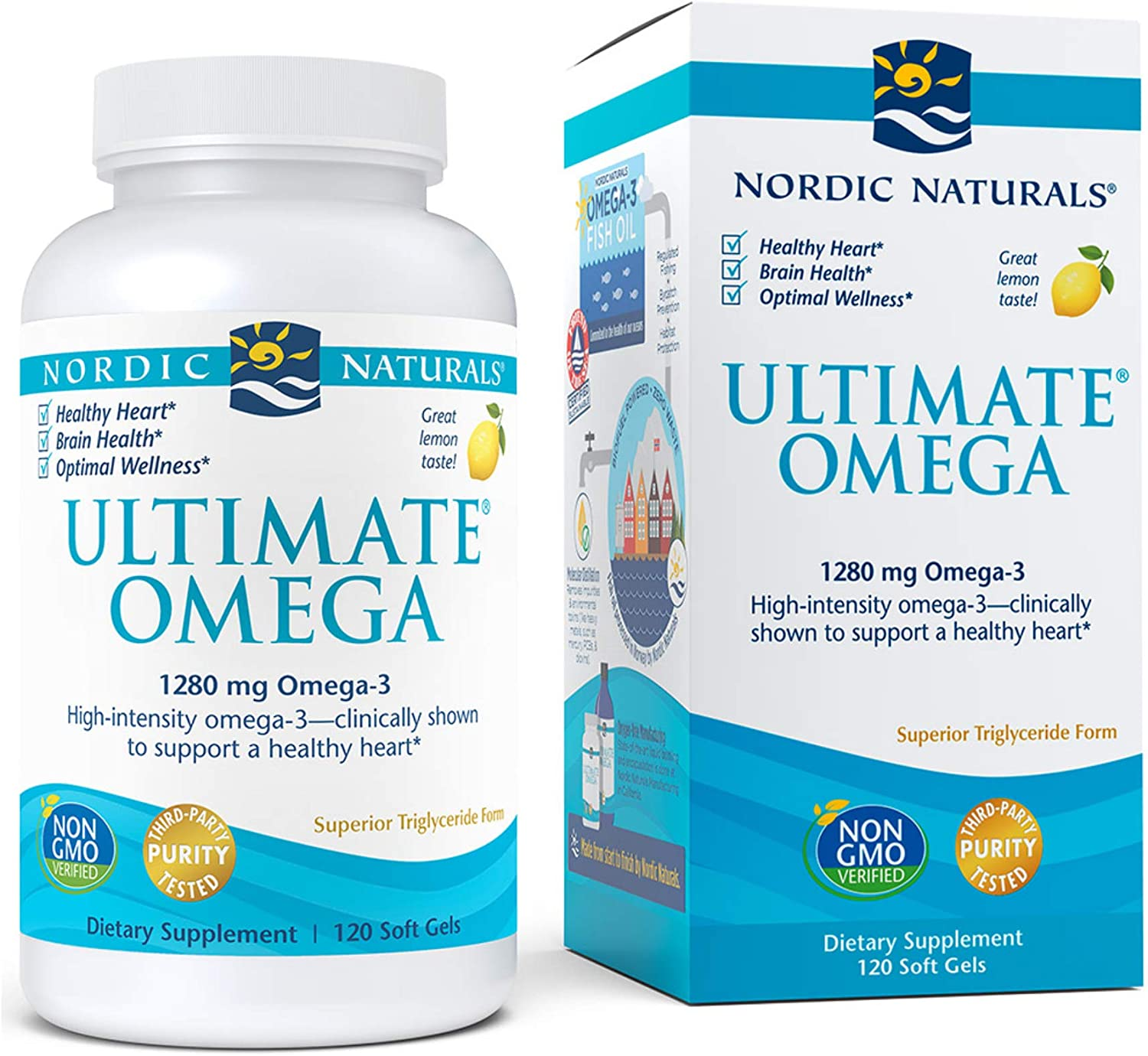 Nordic Naturals - Ultimate Omega, Support for a Healthy Heart, 120 Soft Gels