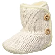 UGG Girls' I Purl Boot, Ivory, 4/5 M US Toddler