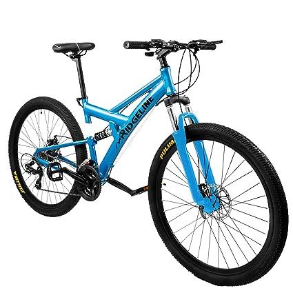 Full Suspension Mountain Bikes Bicycle Warehouse >> Amazon Com Ridgeline Mountain Bike Full Suspension 19 Frame