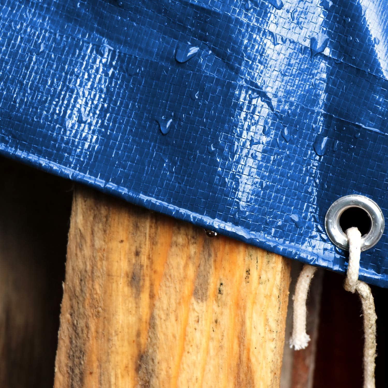 blau Gewebeplane Panorama24 PE Abdeckplane 12 x 15 m sch/ützt Gro/ßfl/ächig vor Feutigkeit /& Schmutz 180m/² Holzplane Wetterschutzplane mit Aluminium /Ösen