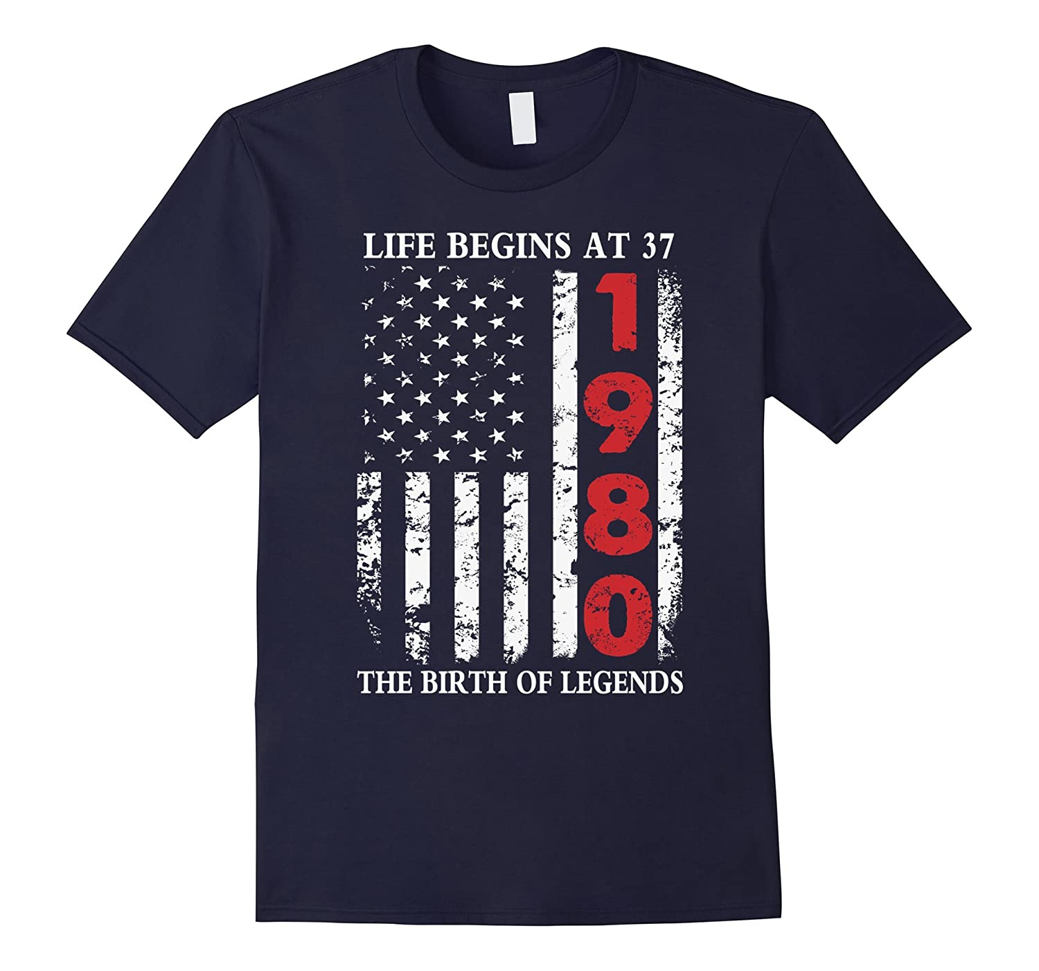 1980 The Birth Of Legends American Flag T-Shirt 37th Gift-TD