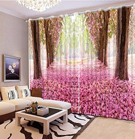 Amazon.com: Sproud Customize 3D Curtains For Living Room Romantic ...