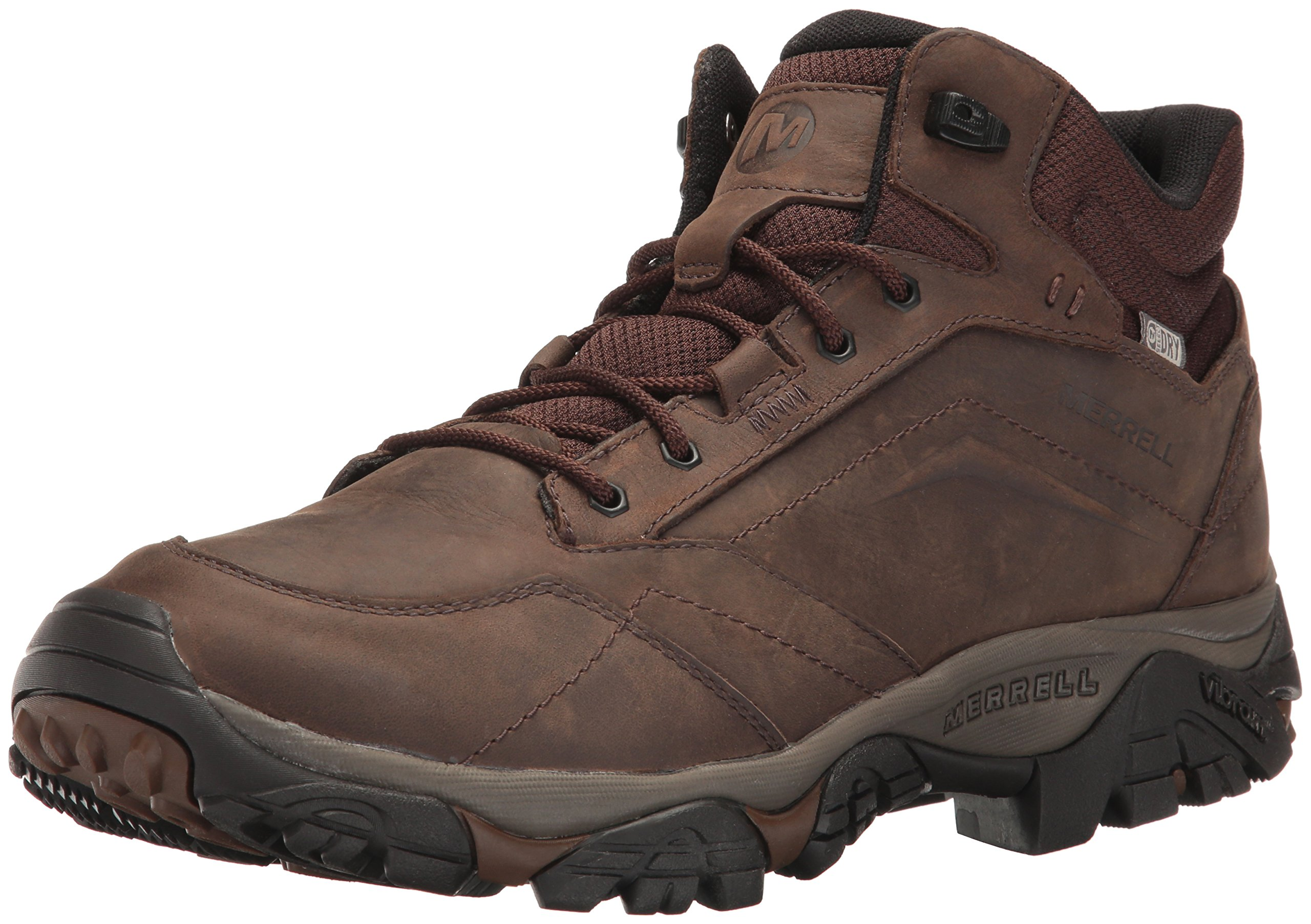Merrell Men's Moab Adventure Mid Waterproof Hiking Boot, Dark Earth, 12 M US