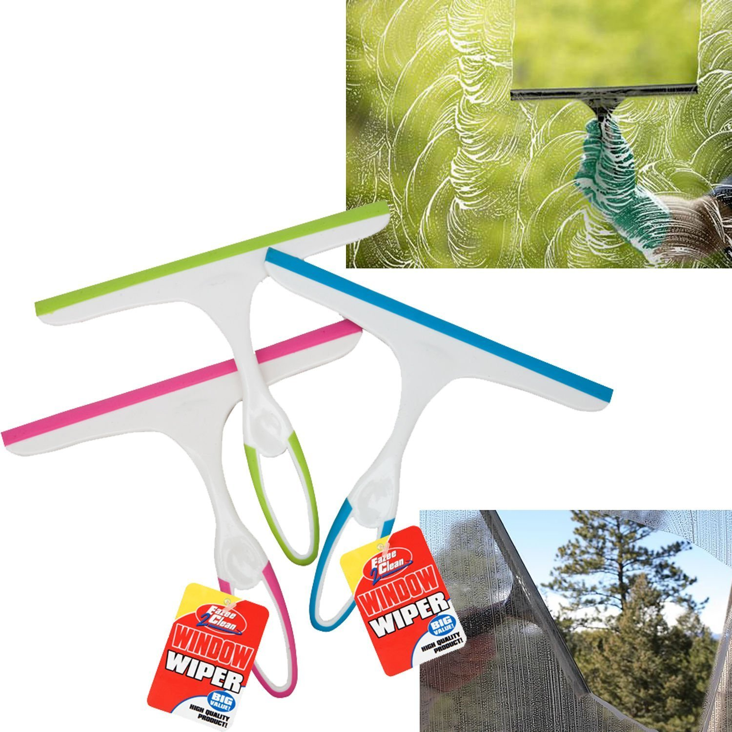 Glass Window Soap Cleaner Wiper Squeegee Home Car Blade Bathroom Mirror Shower Guilty Gadgets