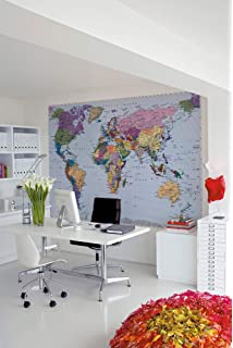 19290383 Vintage World Map black and white Retro photo Wallpaper wall mural