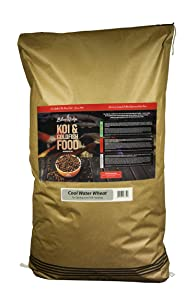 "Blue Ridge Fish Food Pellets, Koi and Goldfish Cool Water Wheat Formula, Floating 3/16"" Pellet, Balanced Diet"